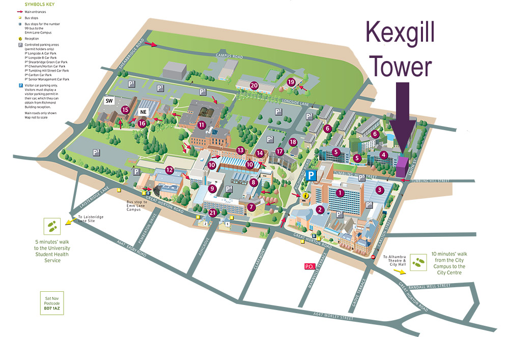 Bradford-Campus-Map-Kexgill-Tower